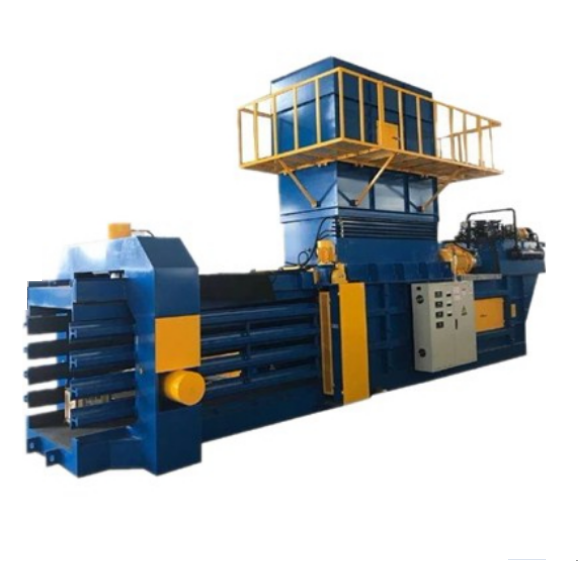 Fully Automatic Horizontal Balers Machinery Machine For Polyurethane Foam Scrap In Recycled Plastic
