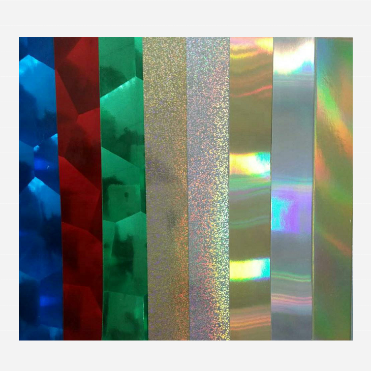 Single side 325g premium holographic paper for bag