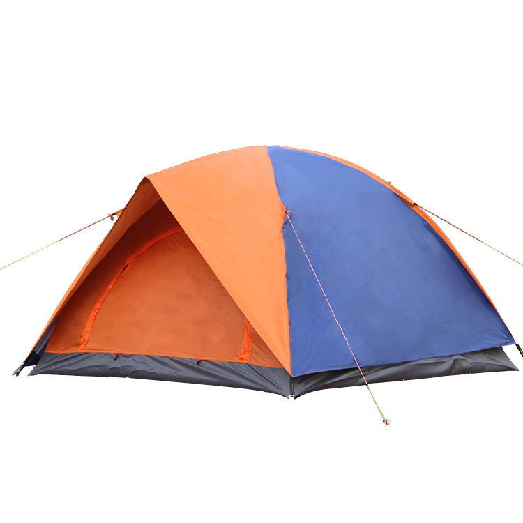 Outdoor 3-4 People Leisure Travel Double Doors Tent Rainproof Automatic Camping Tent