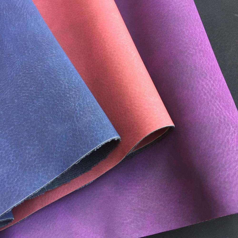 Two Tone Yangbuck PU Leather for Making Bags Handbags