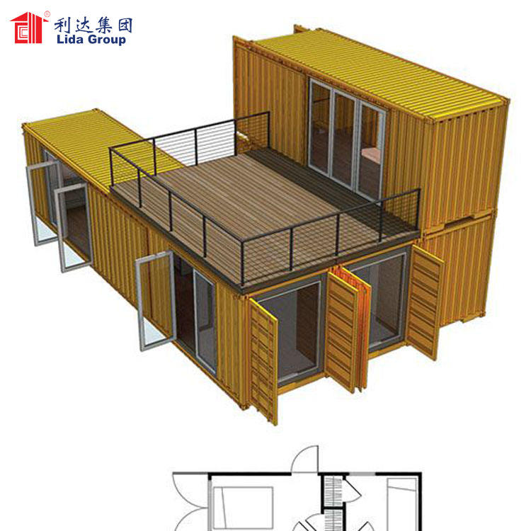 Modern strong small shipping container home for Virgin Islands, apartment building prefab container homes