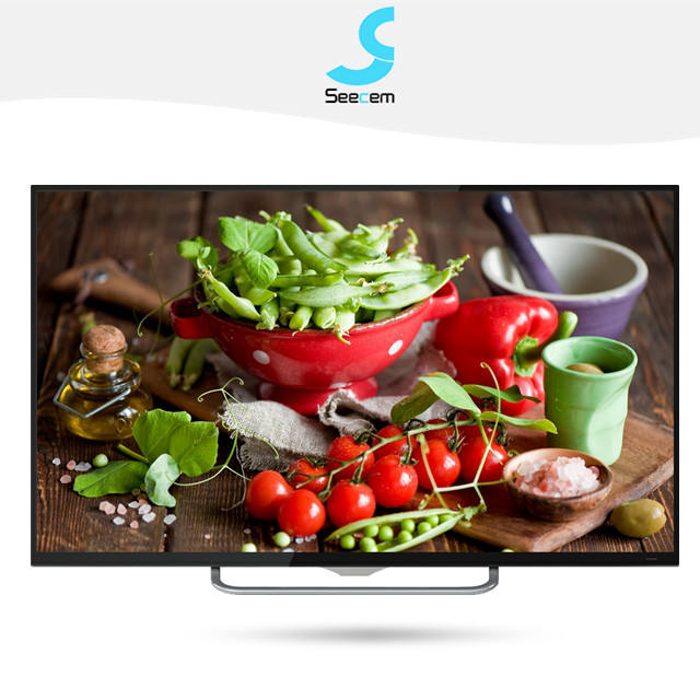 Super Slim 55 Inch LED smart LED TV with android system and large capacity