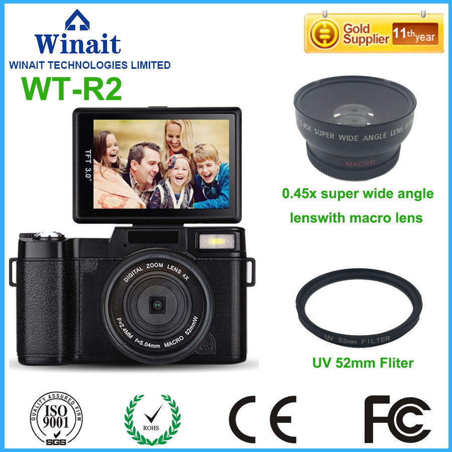 24mp Cheap Dslr camera with changeable lens