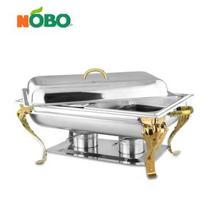 Saudi style beautiful design stainless steel chafing dish with golden bead