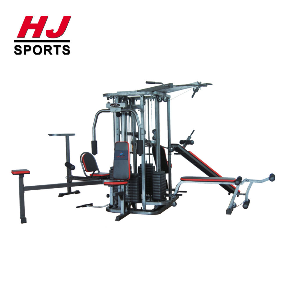 HJ-B075 Strength Training Multi Strength Fitness Equipment Deluxe Commercial Gym 10 Stations