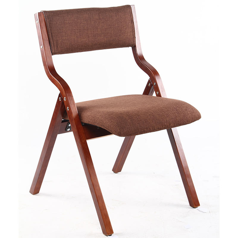 Korea Style Bend Wood Bent Plywood Bentwood Fabric Dining Leisure Wooden Relax Japanese Folding Chair