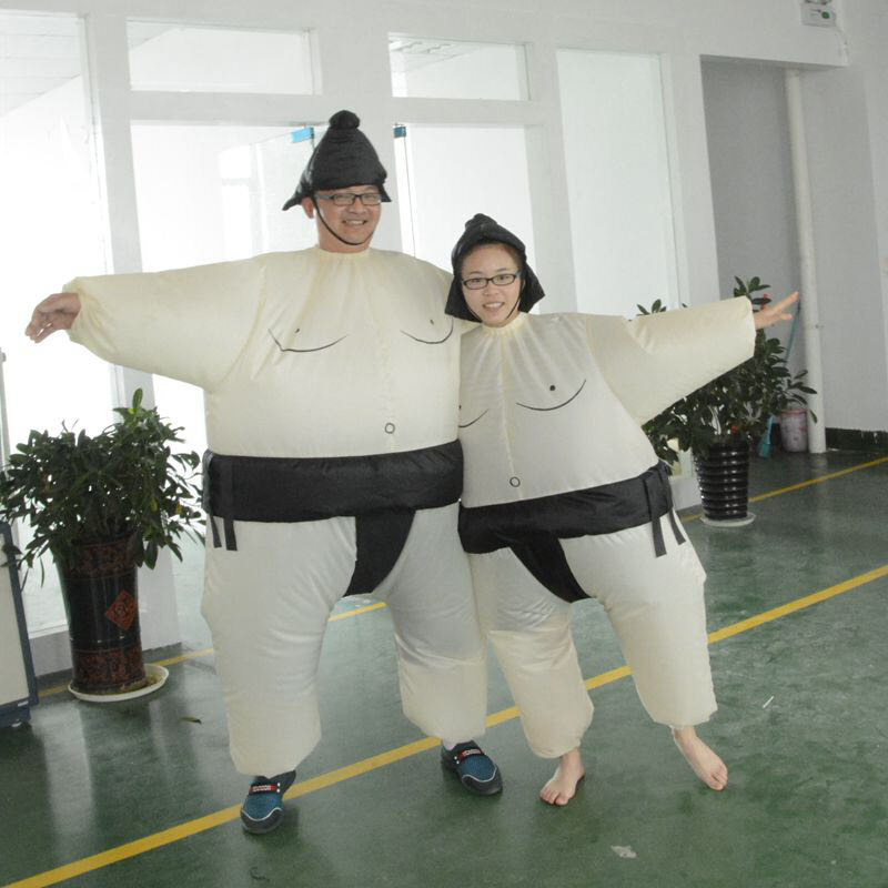 Wholesale party funny inflatable sumo wrestling fat suit/ costume for adult