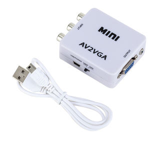 Mini HD RCA CVBS AV TO VGA Adapter AV2VGA HD video Converter with good price AV TO VGA