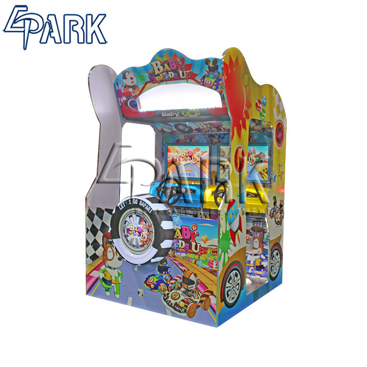 Amusement Kiddie Rides Factory Price Baby Speed Up A Racing car games with capsule toy function