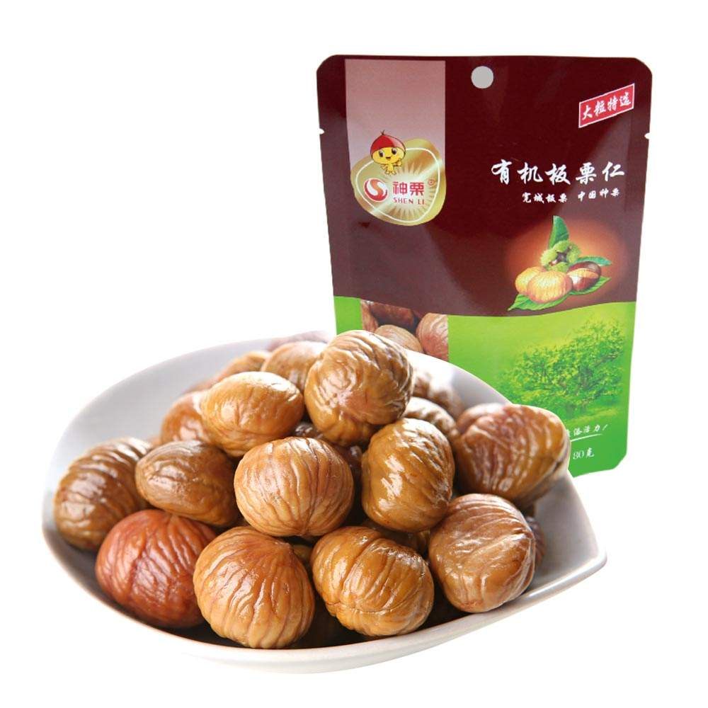 Wholesale OEM Snacks Roasted Peeled Chestnuts
