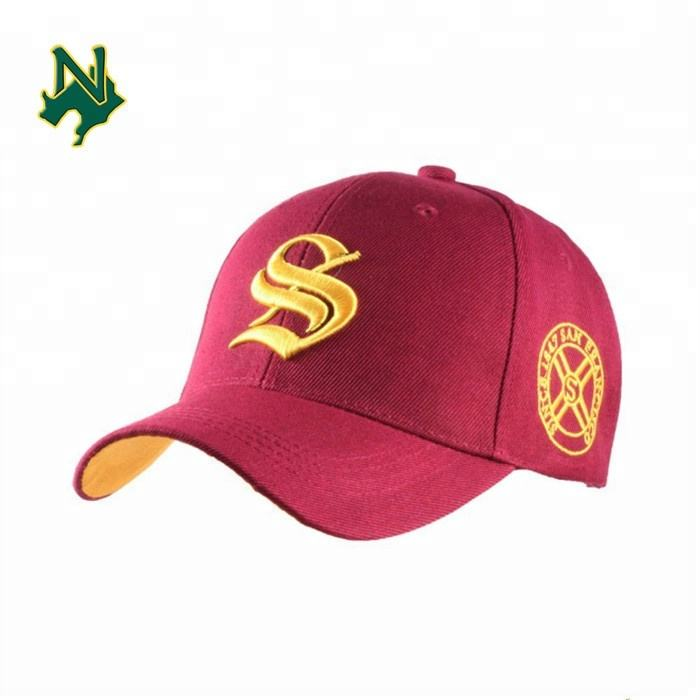 Baseball Cap Promotional Baseball Cap Custom New Embroidered Red Baseball Era Cap Factory