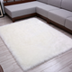 Wholesale Snowy White Pelt Faux Sheepskin Fur Rectangle Rug And Carpet