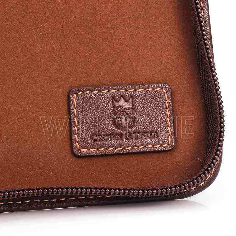 Customized Genuine Leather Travel Watch Wallet With Passport Holder