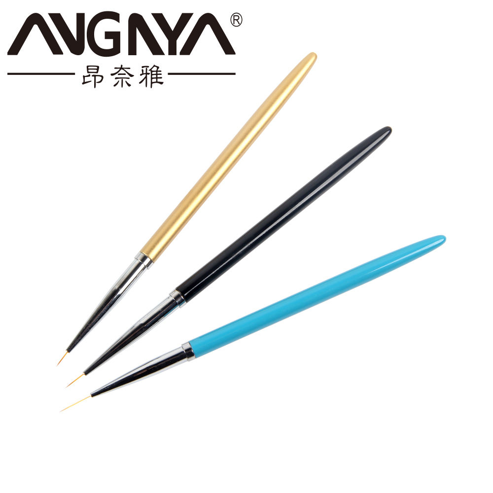 OEM&ODM 3pcs/set Nail Brush Set Nail Liner Brush Painting Flower Drawing Thin Nail Art Liner Brush