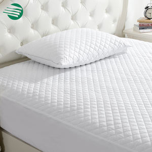 Fully fitted bamboo charcoal bed mattress protector again bed bugs quilted mattress protector cover