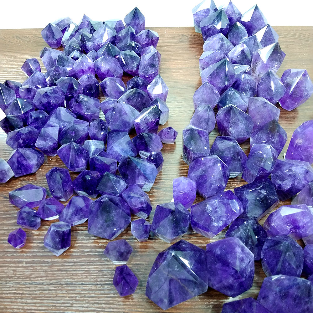 Natural Amethyst Crystal Reiki Healing Crystal Free Form Points
