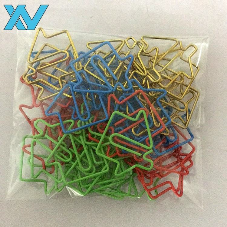 customized metal colored house paper clips