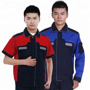 Wholesale quality cheap short sleeve workshop 4S car maintenance service worker workwear uniform