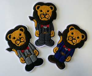 high quality no minimum custom iron on chenille patch made in china