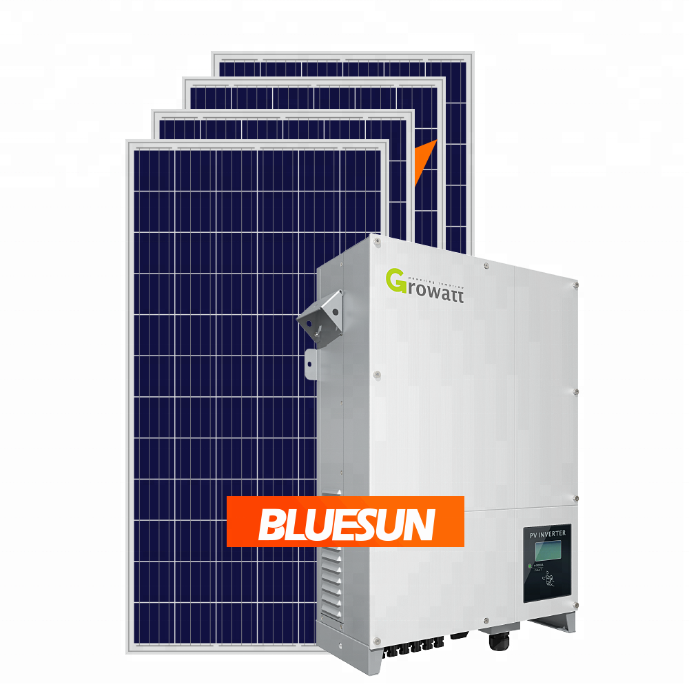 Bluesun design 50kw 50kva on grid tie solar power system all components for industry commercial