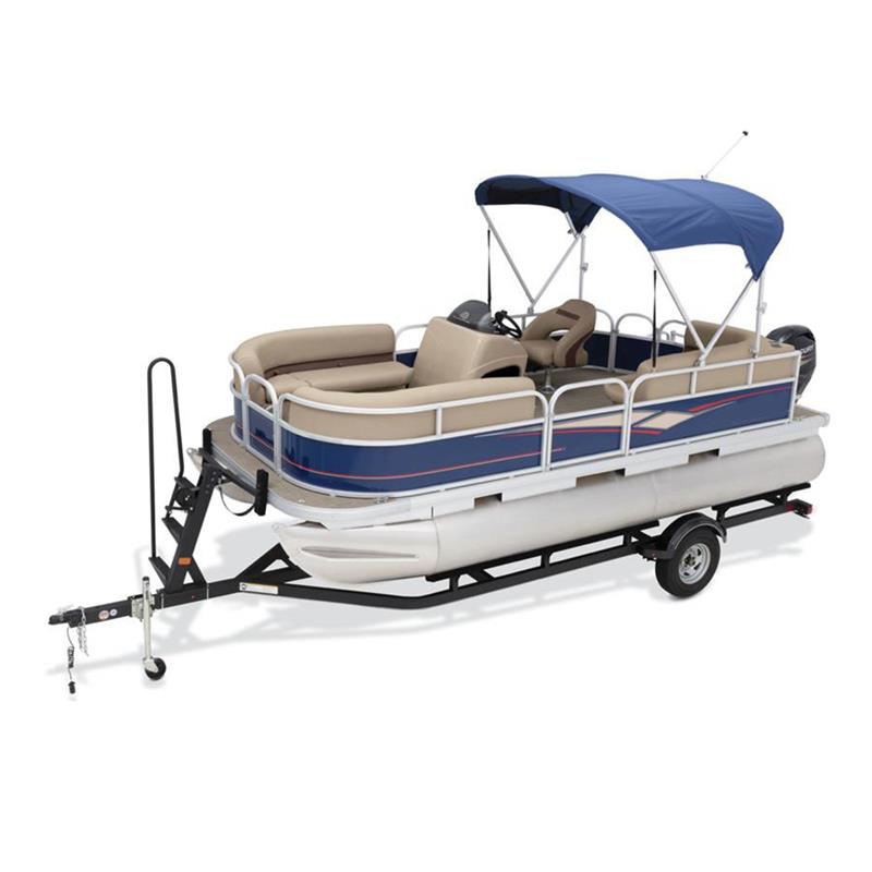 ECOCAMPOR Lightweight Luxury Floating Aluminium Made Electric Fishing Party Catamaran Pontoon Boat For Sale