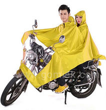 2-person raincoat/poncho motorcycle motorbike rubber rain gear