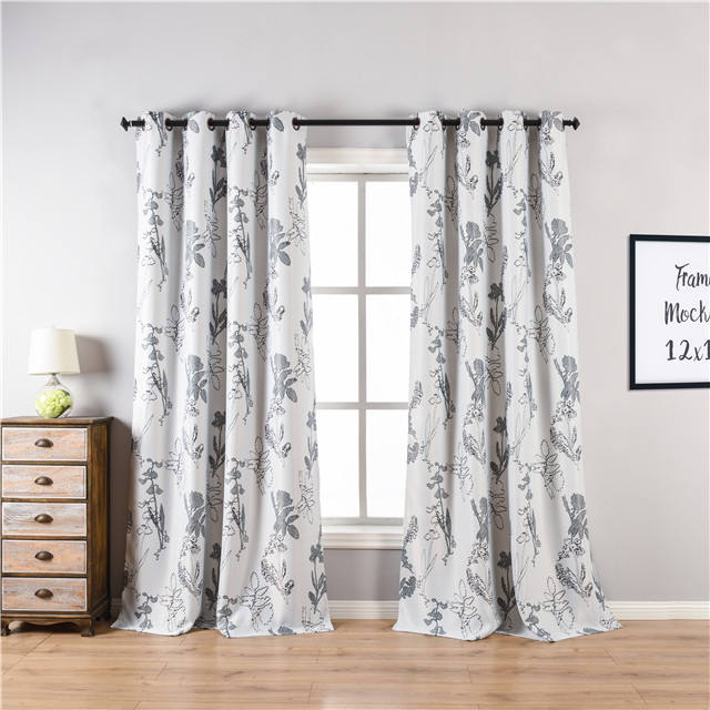 eyelet blackout curtain ready made curtains online picture new printed pattern curtains