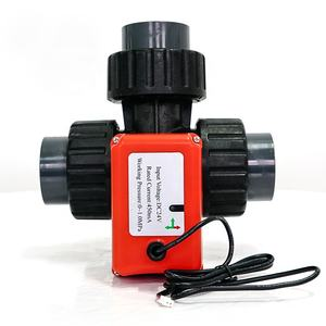 100000+ Times Safety Rotation Long Life G1 DN25 DC6V12V24V PVC Valve 3 Way Ball Electric Motorized Actuator Automatic Operated