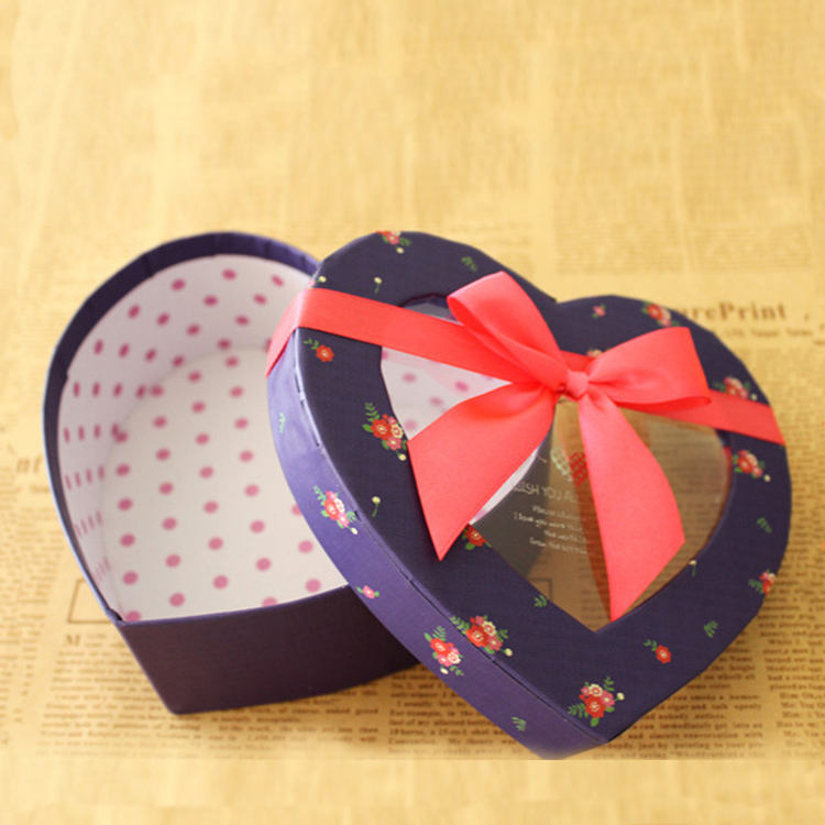 Wedding birthday supplies various heart shape cardboard paper window gift box