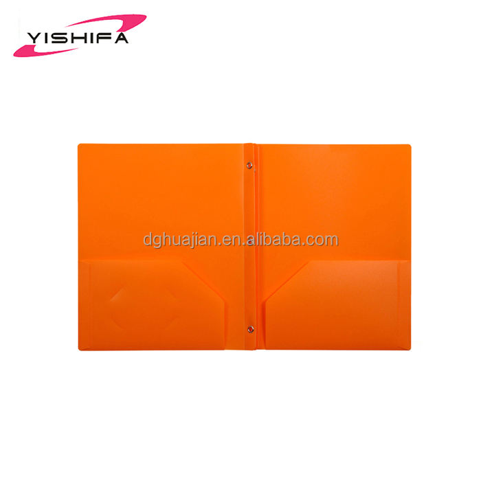Good Price a4 PP plastic portfolio poly folder 3 prongs two pockets 3 holes with Eco-Friendly plastic material