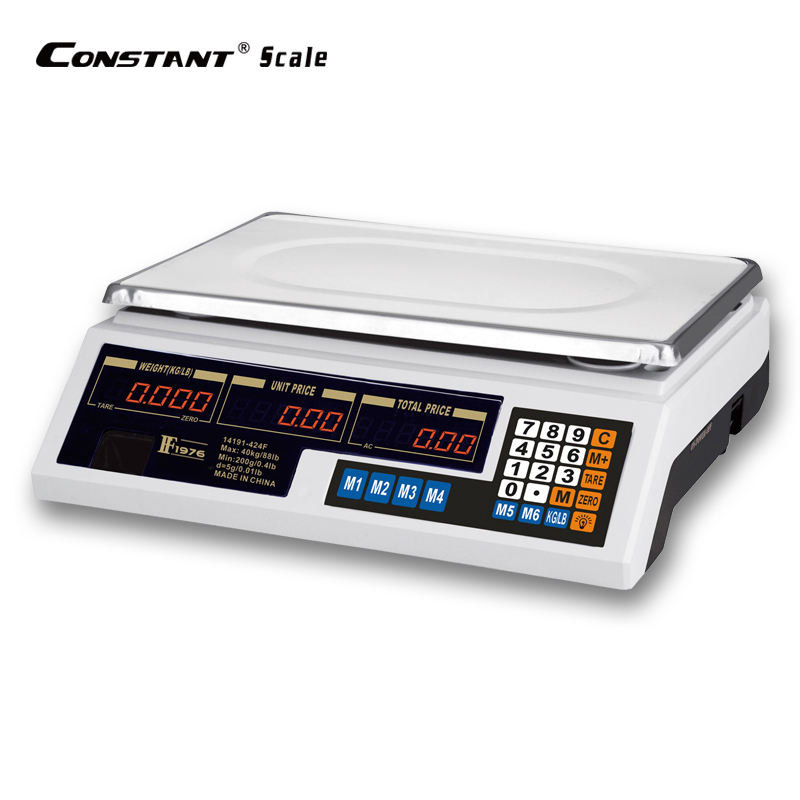 FF1976-424F LED Dual-display 40kg/5g Fruit commercial balance Electronic Price Counting Scale digital weighing scale