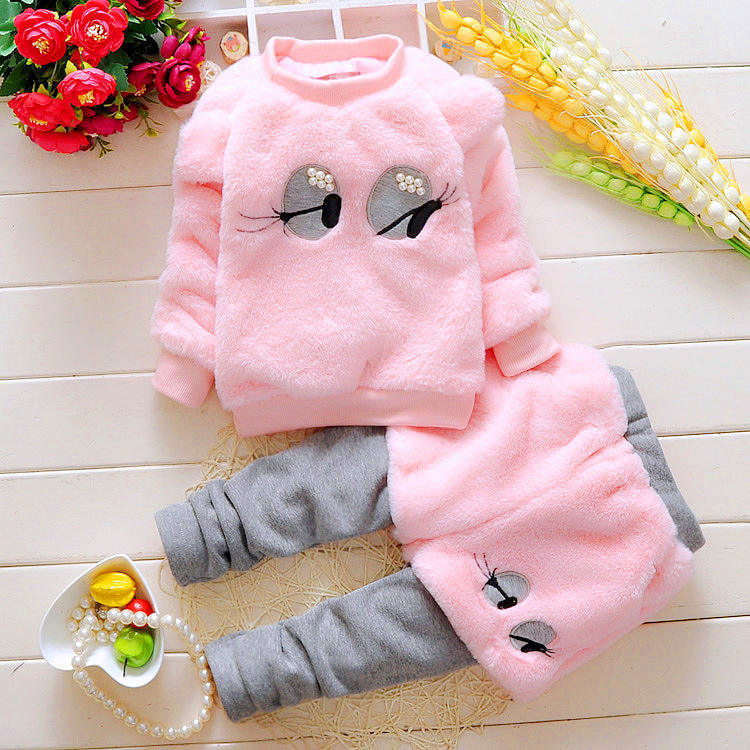 Toddler Baby Girl Autumn Clothing Baby Winter Wear Fashion Set 2017 Newest Girls Clothes 2PCS Children's Infant Clothings
