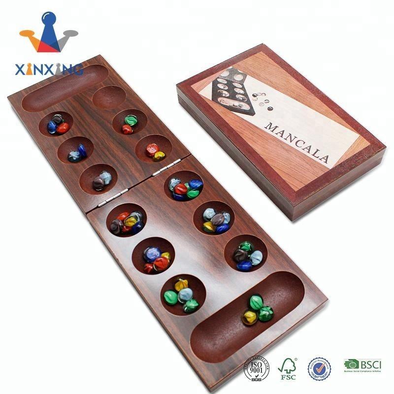 Mancala Classic Strategy Game Sungka Kalaha Game Set for Kids and Adults