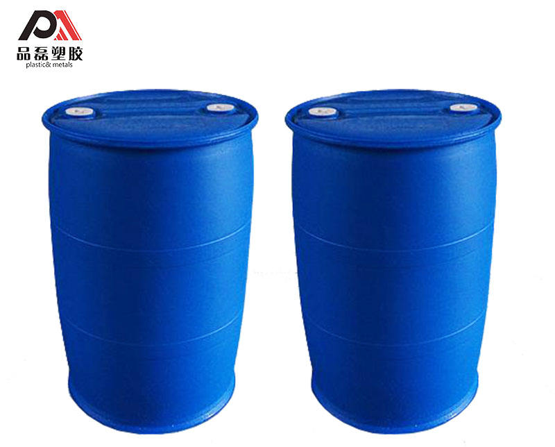 200L double ring Clear HDPE Recycled plastic drum