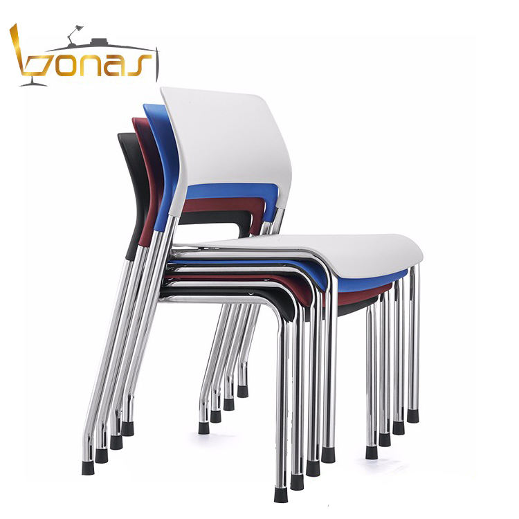 Cheap price armless office furniture PP plastic stackable Conference Chair