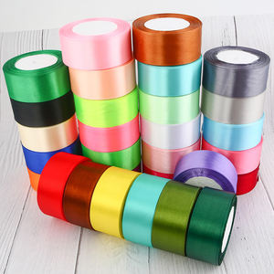 1 inch 2 inch satin ribbon wholesale , solid color single face woven edged satin ribbon