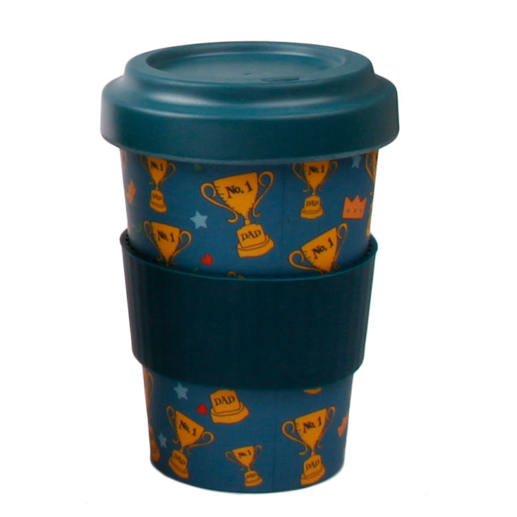 Biodegradable PLA Cup Reusable Bamboo Fiber Custom Coffee Cups With Lid Best Selling Mug