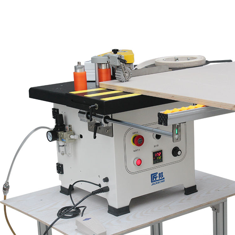 Semi-automatic Pvc edge banding Multifunction Curve Straight line Woodworking machinery edge banding machine
