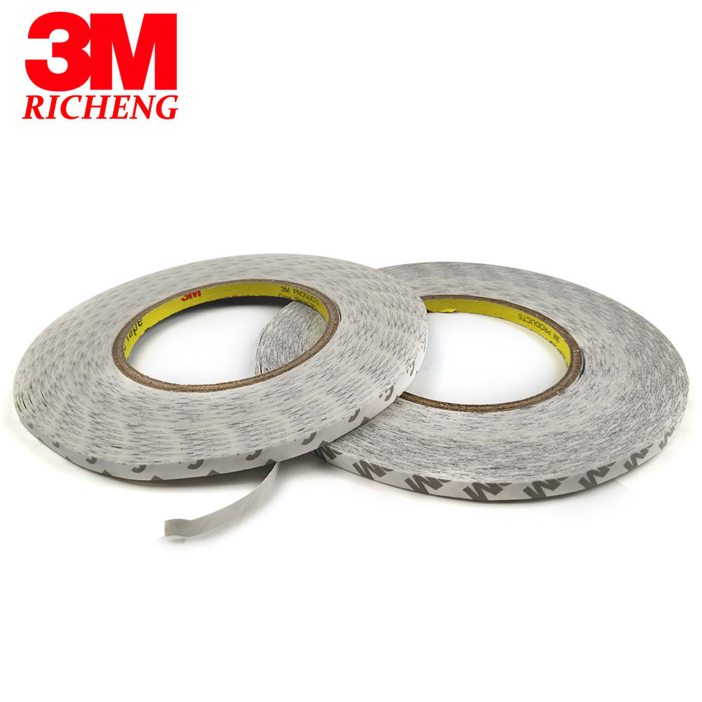 3M 9080HL Double Sided high performance Tissue Tape,clear, 10mmX50M/pc,1roll, Free Shipping White Paper Non-woven Tissue Tape