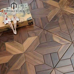 Economic prices natural color multilayer solid wood smooth Mahogany wood parquet flooring