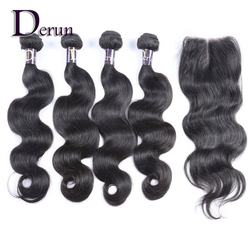 Factory Price Indian Hair Raw Unprocessed Virgin Body Wave Hair with Frontal