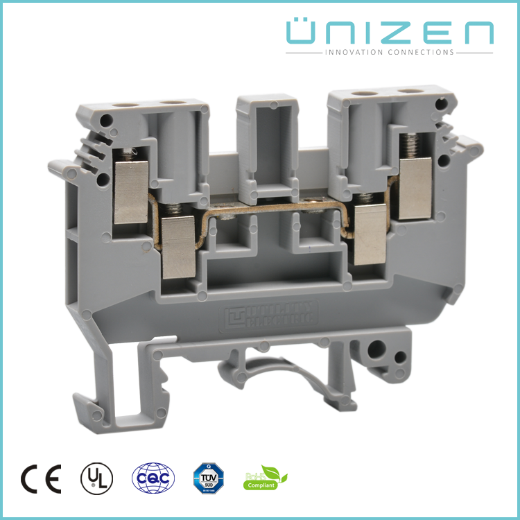 UNIZEN China supplier fuse holder Terminal Block Connector For 0.2-4mm2 Cable 32A 690V