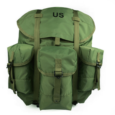 Standard olive green light weight polyester ALICA pack for US army, large capacity cheap polyester Alice backpack for outdoor