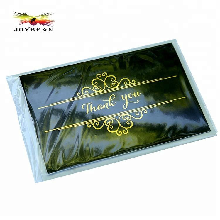 Black Gold Foil Thank You Happy Birthday Greeting Cards Business Card