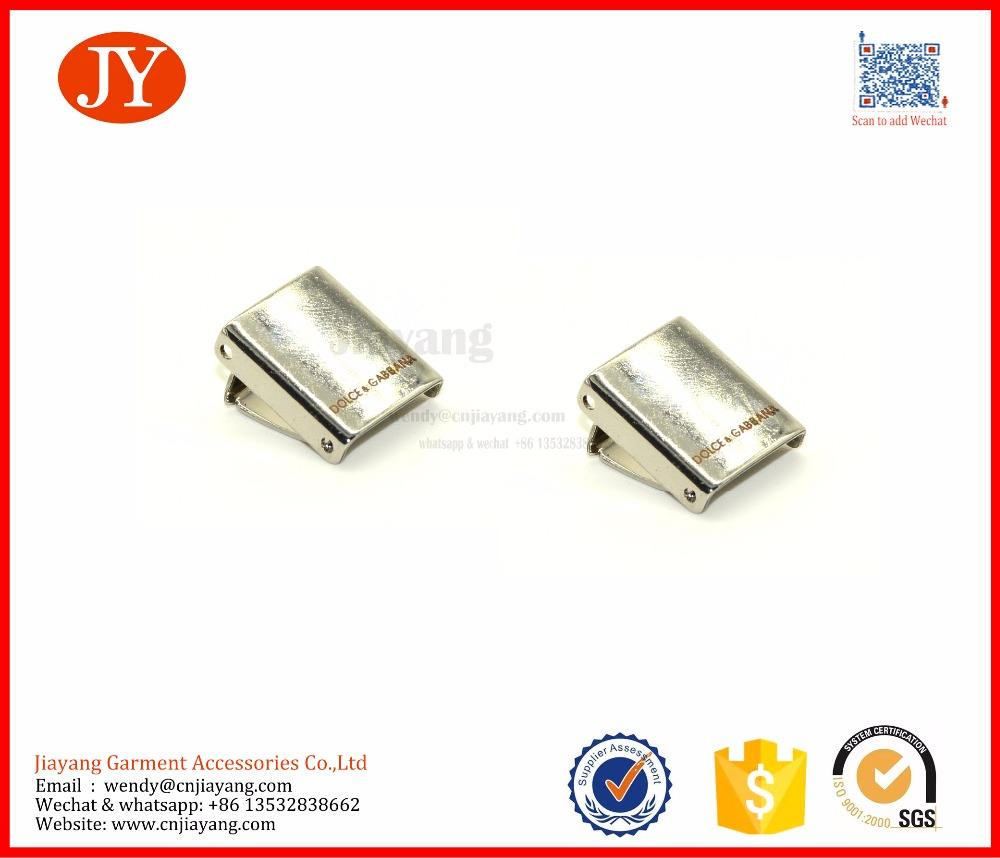 쉬운 조립 10 미리메터 레이저 로고 금속 벨트 엔드 클립 휴대폰 홀더