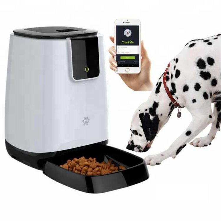 2020 New Smart Wifi Remote Control Pet Feeder Microchip Automatic Dog Pet Bowls Food Feeder