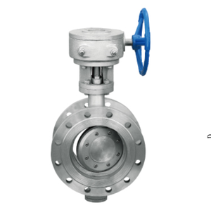 Triple eccentric hard seal worm gear driven butterfly valve