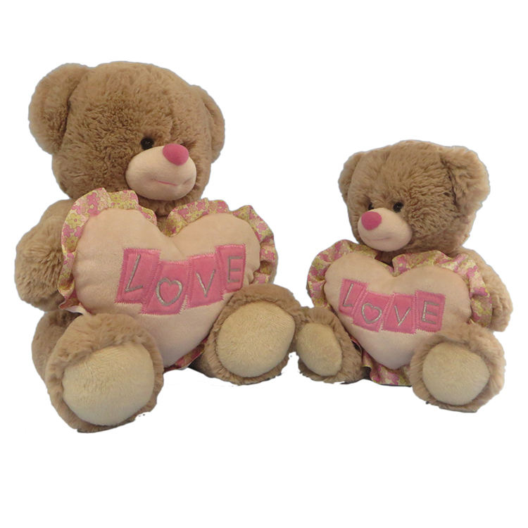 Custom logo size color stuffed animals teddy bear licensed plush toy valentine gift for lover