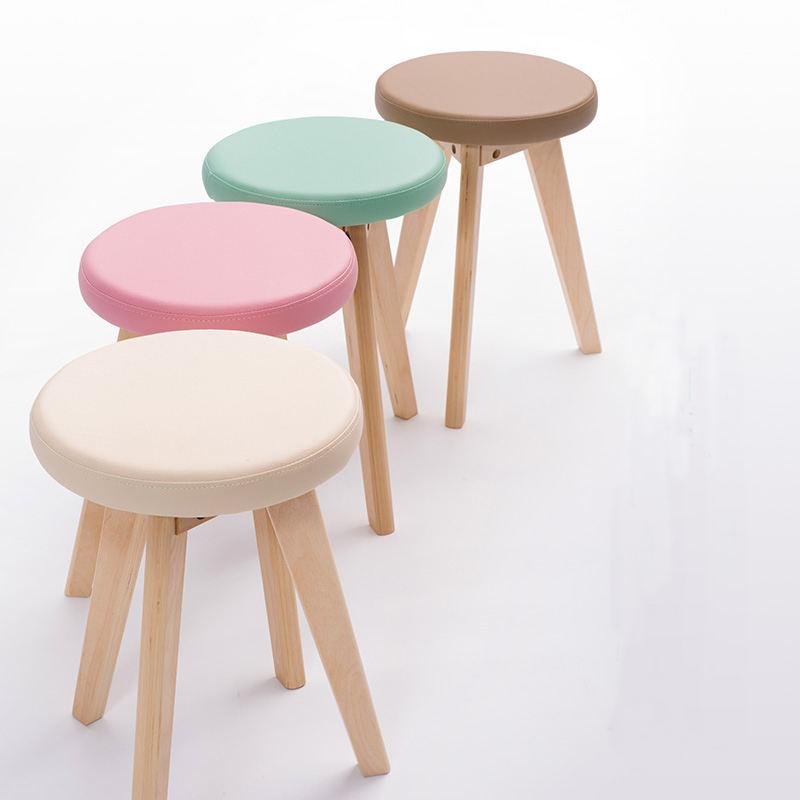 Colorido al por mayor American Bar silla con la pierna de madera