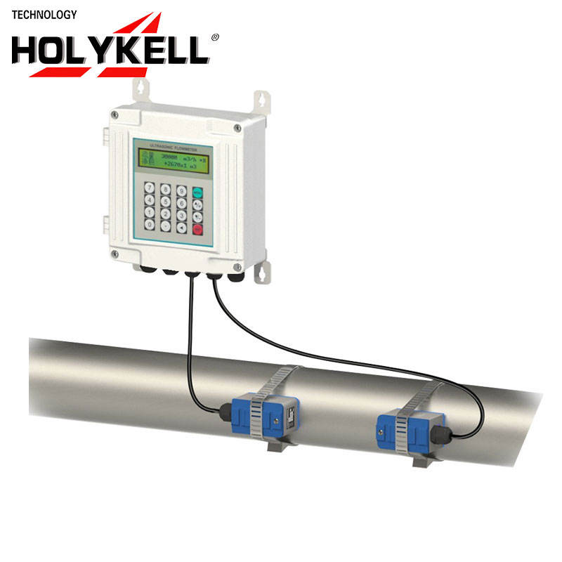 Holykell OEM DN32-DN1000mm China Wall Mounted Ultrasonic Water Flowmeter Price,Ultrasonic Flow Meter